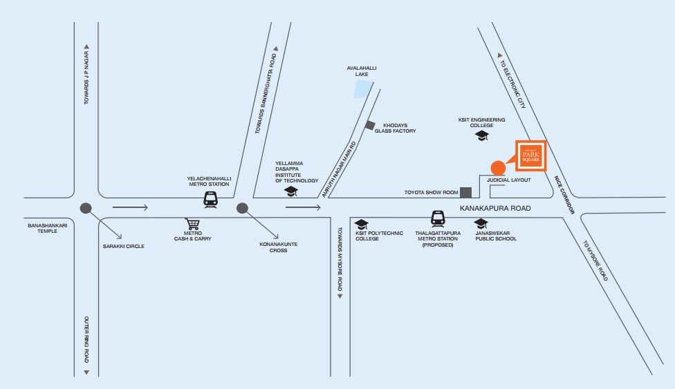 Provident Central Park Location Map